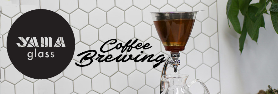 yama glass pour over, slow bar, and other coffee brewers for home or commercial use