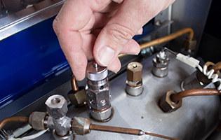 Open valves