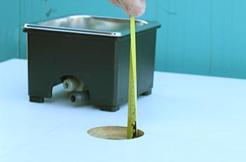 Measuring rinser